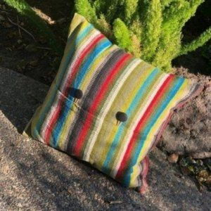 Crate & Barrel Cayden Striped Throw Accent Pillow